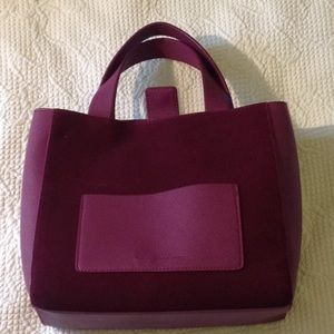 French Connection burgundy tote